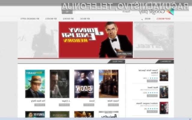 Priljubljena storitev Google Play Movies je ža ponovno obšla Slovenijo!
