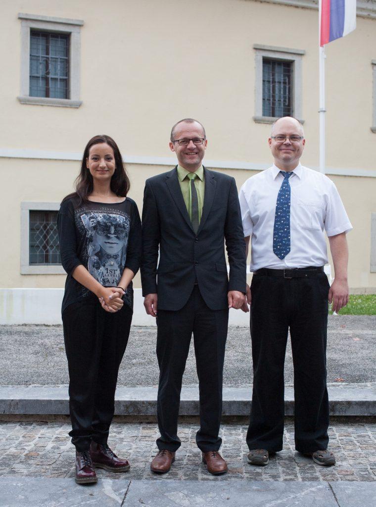 Vodstvo FIŠ (Nadja Damij, Janez Povh, Blaž Rodič)
