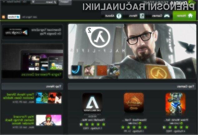 Na tabličnem računalniku Nvidia Shield bomo lahko igrali tudi igre, namenjene osebnim računalnikom in igralnim konzolam.