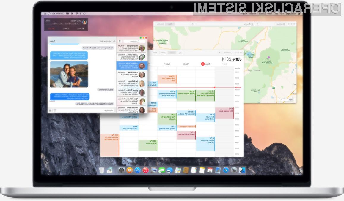 Grafični vmesnik operacijskega sistema OS X Yosemite navdušuje v vseh pogledih!