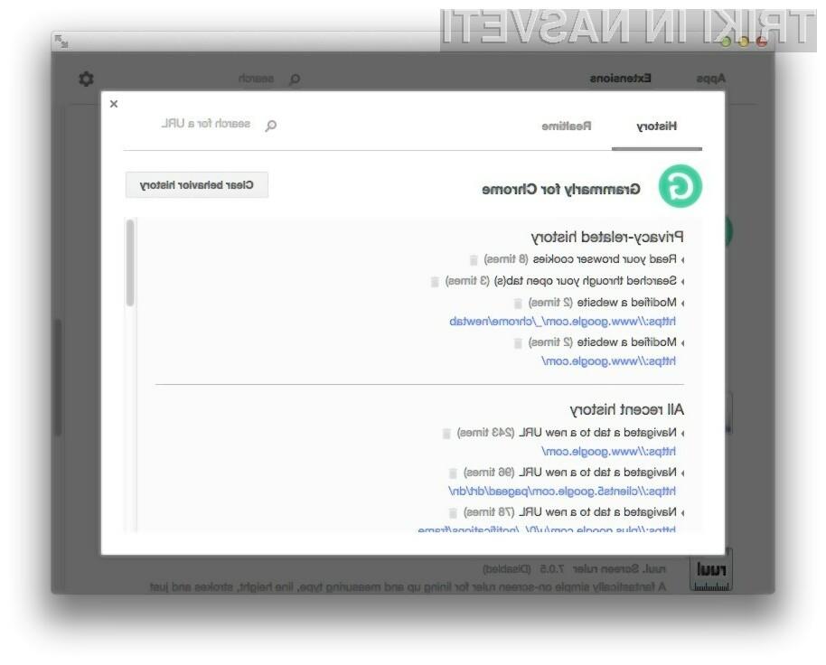 Z razširitvijo Chrome Apps & Extensions Developer Tool bomo natančno vedeli, kar počnejo nameščene spletne aplikacije v brskalniku Google Chrome.