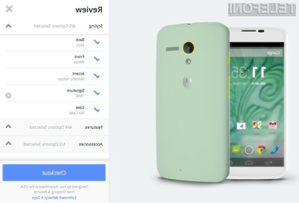 Prilagodljiv pametni mobilni telefon Motorola Moto X bo od prvega julija na voljo tudi v Evropi!