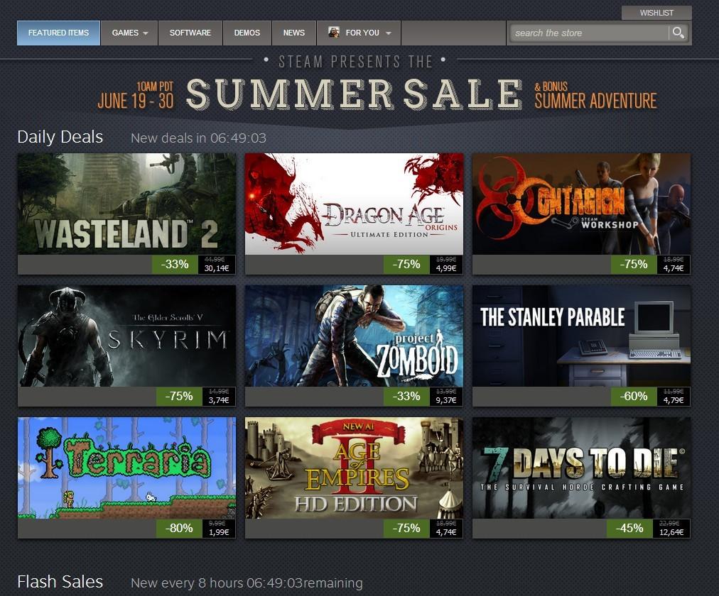Steam poletne razprodaje