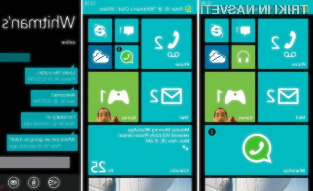 Aplikacija WhatsApp Messenger je bila ostranjena zaradi težav z združljivostjo z mobilnim operacijskim sistemom Windows Phone 8.1