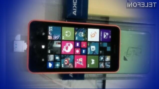 Cenovno ugodni mobilnik Nokia Lumia 638 s podporo mobilnemu omrežju 4G/LTE naj bi v Evropo zašel še pred pričetkom jeseni.