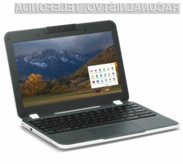 Cenovno ugodni prenosnik CTL NL6 Education Chromebook ima za lažje prenašanje na voljo celo priročen ročaj.