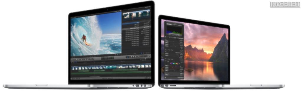 Prenovljeni Applovi prenosniki družine MacBook Pro so povsem prilagojeni operacijskemu sistemu Mac OS X 10.10 »Yosemite«.