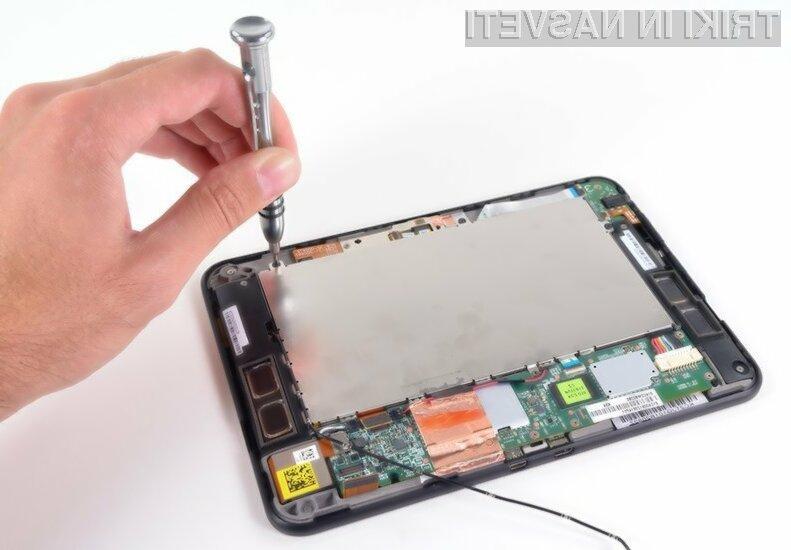 Za prenehanje delovanja tabličnega računalnika je pogosto kriva nekakovostna baterija.