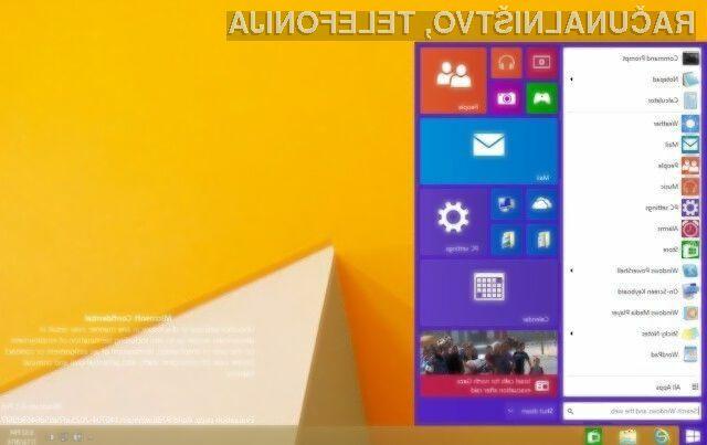 Gumb Start naj bi bil uporabnikom najnovejšega Windowsa na voljo septembra letos.