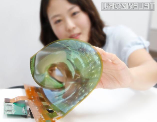 Upogljivi zaslon LG z diagonalo 18-palcev je odlično opravil preizkus v živo!