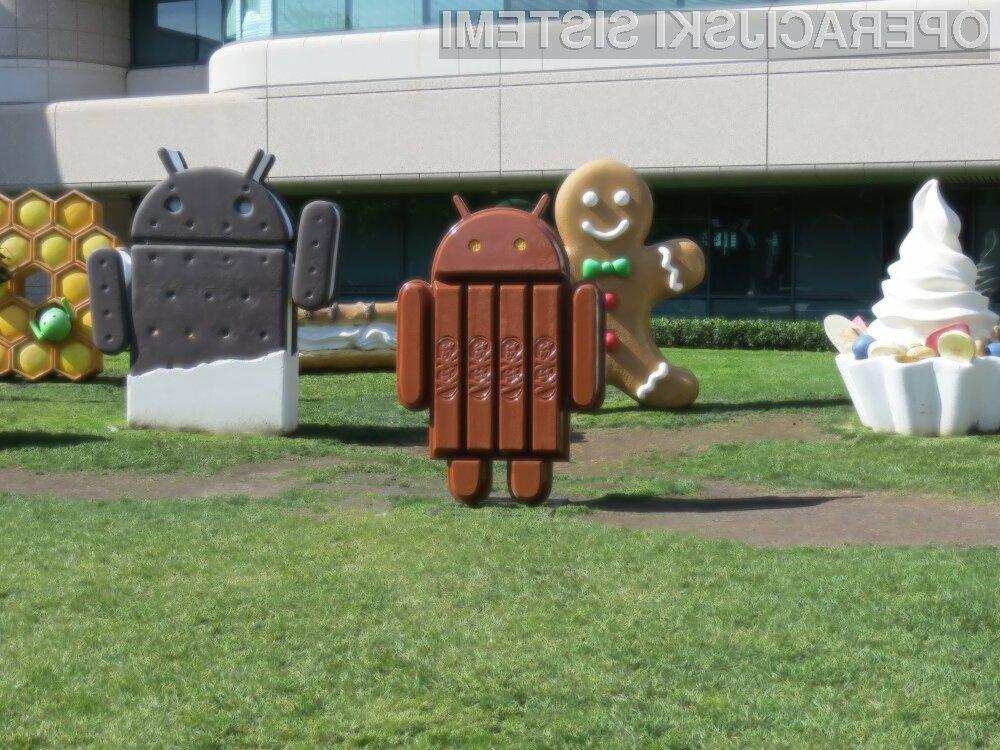 Mobilni operacijski sistem Android 4.4 KitKat od oktobra 2013 počasi a vztrajno pridobiva tržni delež!