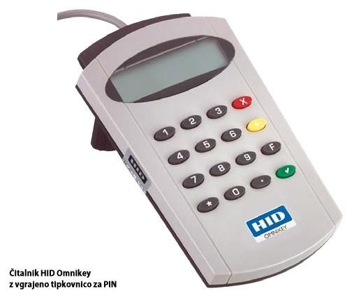 Čitalnik HID Omnikey z vgrajeno tipkovnico za PIN