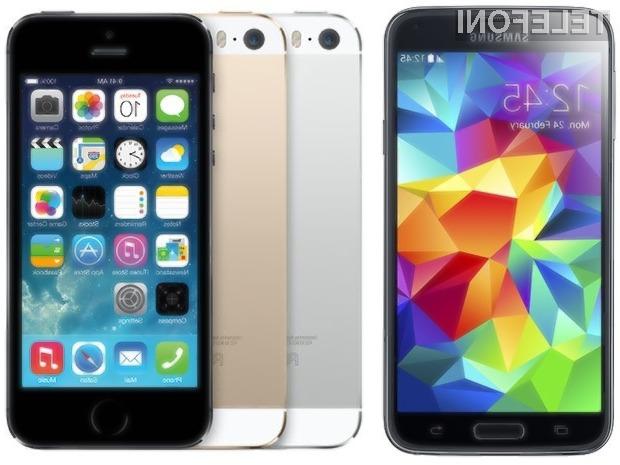 Priljubljenost pametnega mobilnega telefona Samsung Galaxy S5 v primerjavi z mobilnikom iPhone 5S gre v največji meri pripisati večjemu zaslonu.
