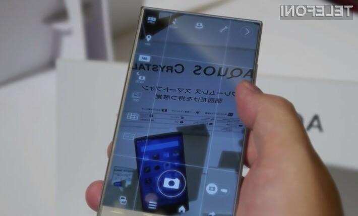 Sharp Aquos Crystal: Mobilnik z zaslonom brez robov!