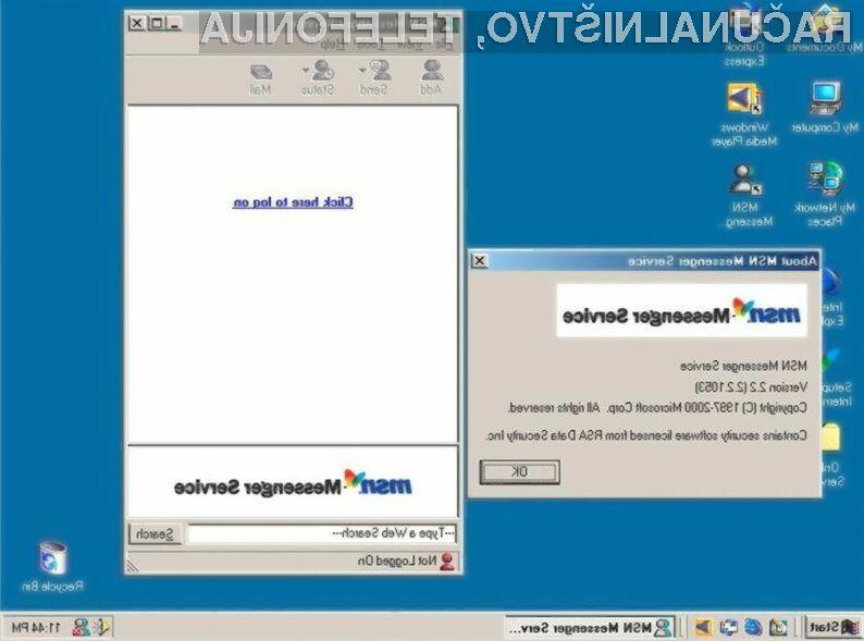 Spletna klepetalnica MSN Messenger odhaja v večna lovišča!