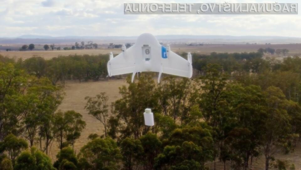 Google preizkuša možnost dostave paketov z letečimi roboti