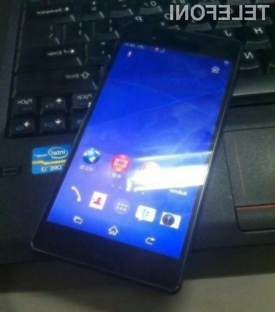 Pametni mobilni telefon Sony Xperia Z3 naj bi v debelino meril le sedem milimetrov!