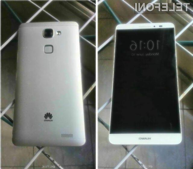 Gigantski pametni mobilni telefon Huawei Ascend Mate 7 naj bi zlahka opravil s konkurenco!