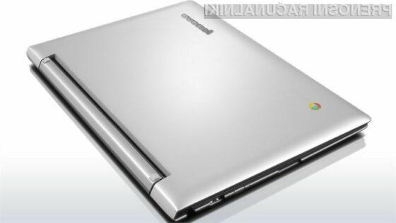 Prenosni računalnik Lenovo N20p lahko uporabljamo tudi v vlogi tablice!