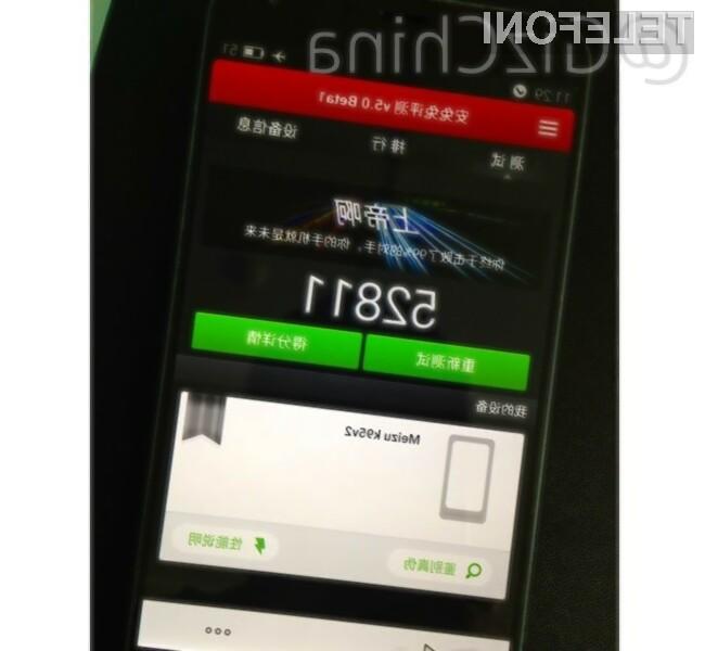 Pametni mobilni telefon Meizu MX4 je prevzel lovoriko najzmogljivejšega mobilnika na modrem planetu.