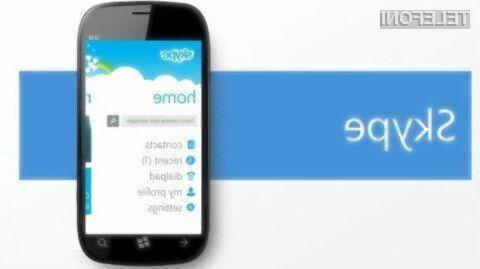 Microsoft bo uporabnikom starejših mobilnih naprav Windows Phone kmalu onemogočil uporabo storitve Skype.