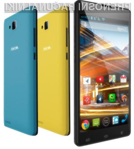 Mobilnik Archos 50 Neon je kljub nizki maloprodajni ceni nadvse odziven.
