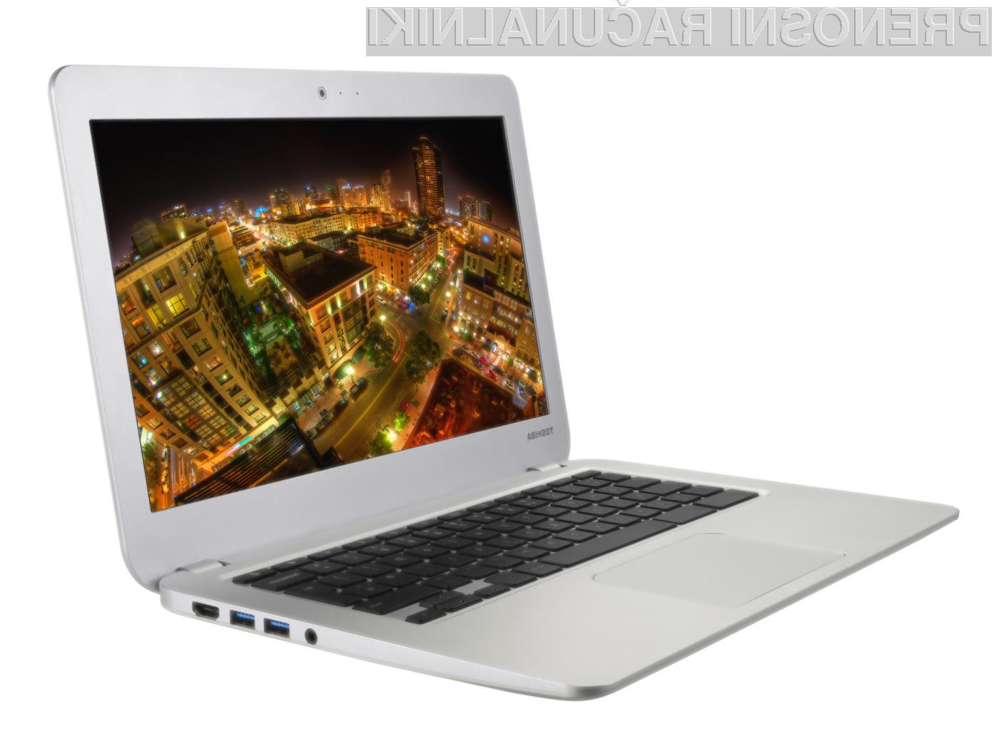 Toshiba napada z novim prenosnikom Chromebook