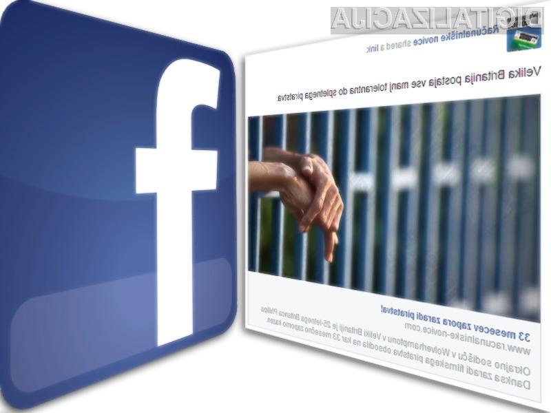 Facebook spreminja pravila igre.