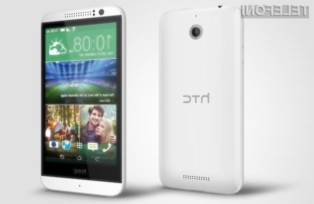 Za pametni mobilni telefon HTC Desire 510 s podporo omrežju 4G/LTE bo potrebno odšteti le preračunanih 188 evrov.