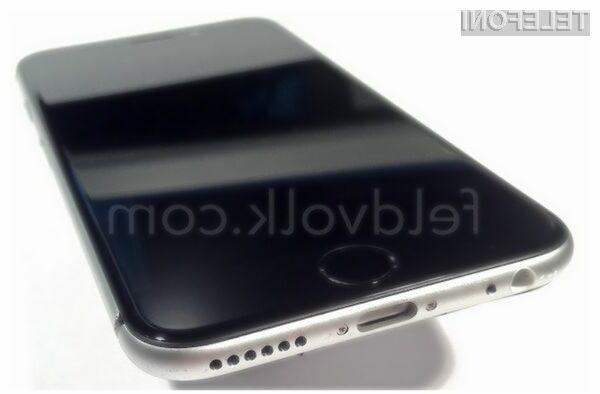 Oblika pametnega mobilnega telefona iPhone 6 naj bi navduševala v vseh pogledih!