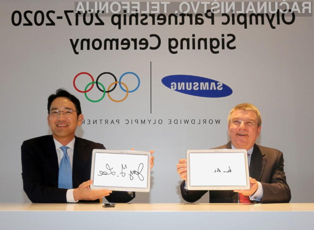 Samsung podaljšal svoje partnerstvo na olimpijskih igrah do leta 2020