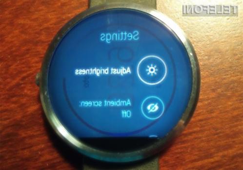 Resne težave za zaslonom pametne ročne ure Motorola Moto 360