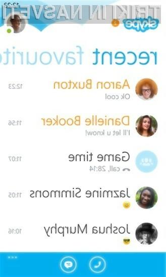 Prenovljeni Skype za Windows Phone navdušuje v vseh pogledih.