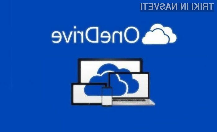 Na oblačno storitev Microsoft OneDrive lahko prenašamo datoteke do velikosti 10 gigabajtov!
