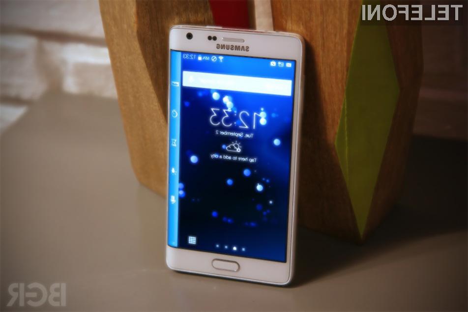 Upognjeni pametni mobilni telefoni Samsung Galaxy Note Edge  bo zagotovo šel v prodajo kot za stavo!