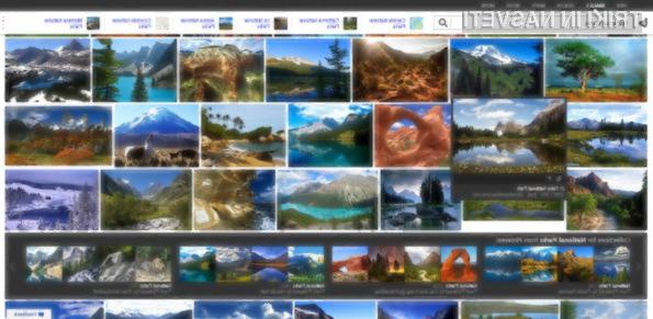 Novi iskalnik slik spletnega iskalnika Bing vas bo takoj prevzel!