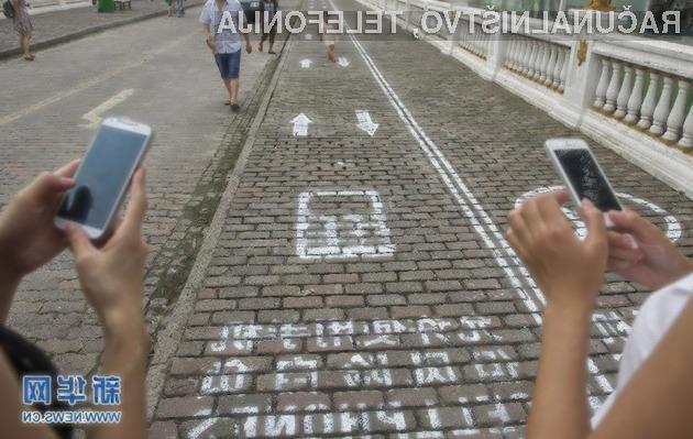 Namenski pločnik za uporabnike pametnih mobilnih telefonov je zadetek v polno!