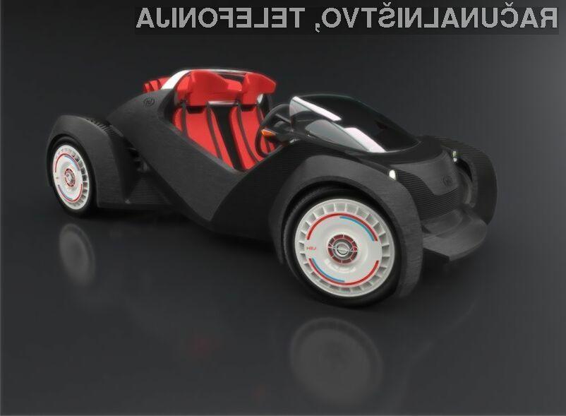 Natisnjen avtomobil naj bi bil kakovostno povsem primerljiv z običajnim.