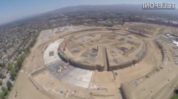 Podjetje Apple bo gradnjo veličastnih poslovnih prostorov dokončalo v drugi polovici leta 2016!