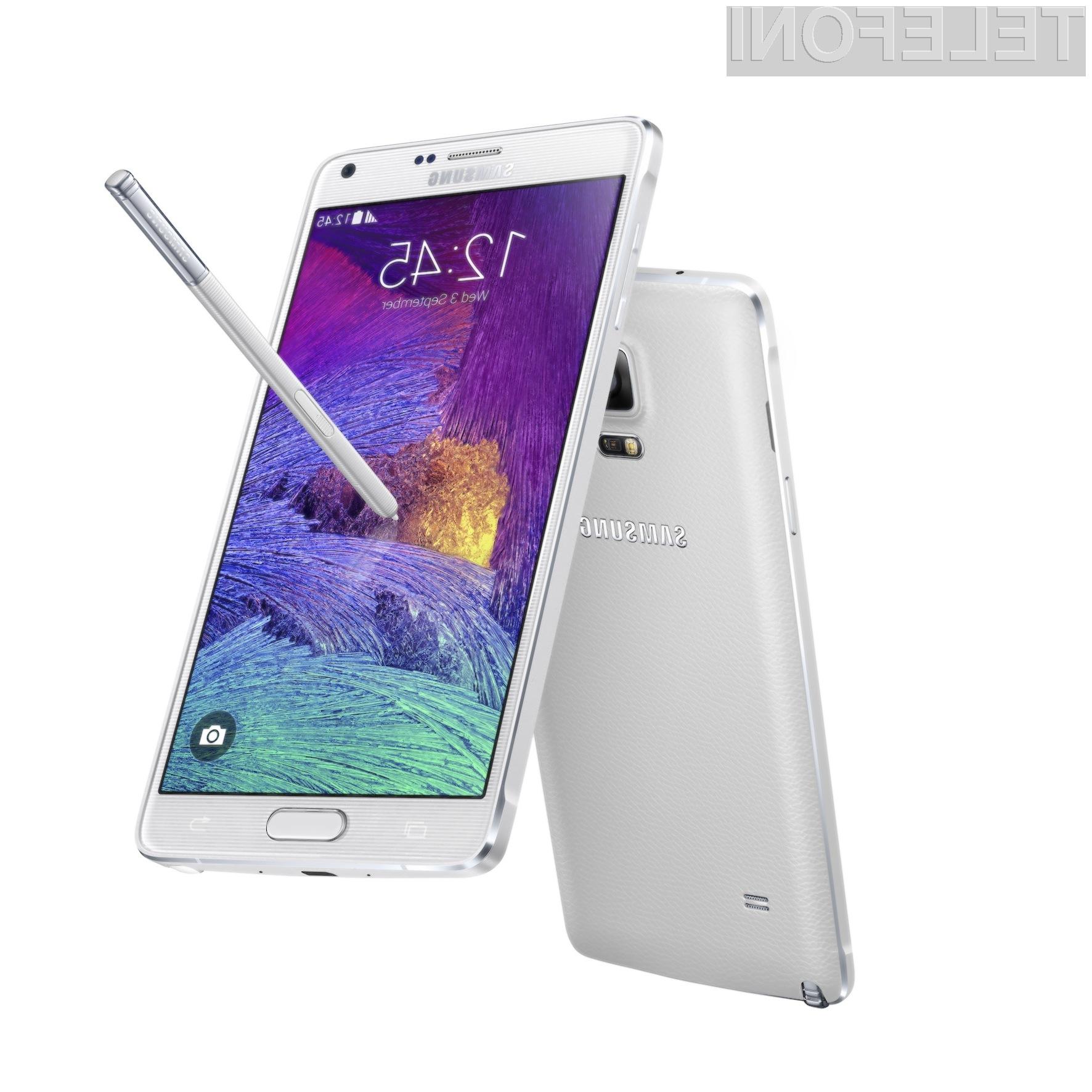 Podjetje Samsung bo mobilnik Galaxy Note 4 ponudil v prodajo še pred koncem septembra.