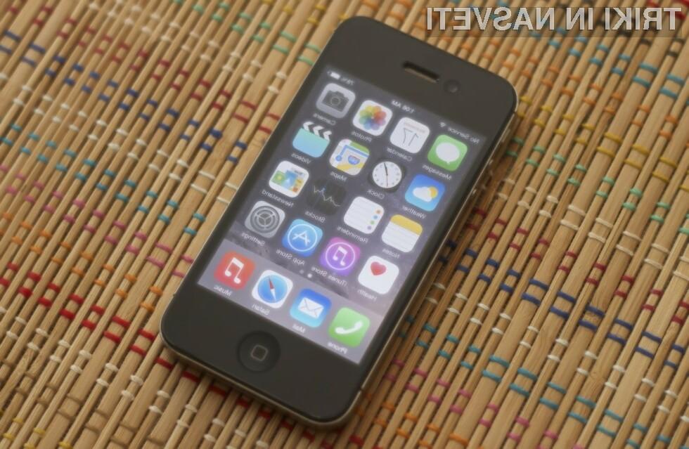 Mobilni operacijski sistem iOS 8 precej upočasni delovanje pametnega mobilnega telefona iPhone 4S!