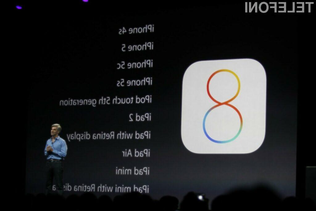 Na voljo posodobljeni iOS 8.0.2