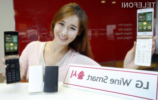 Preklopni mobilnik LG Wine Smart za nolstalgike