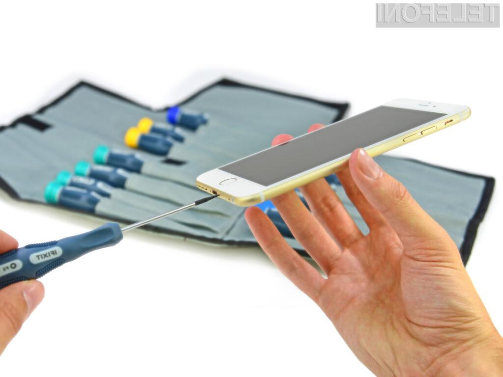 Mobilnik iPhone 6 Plus je v notranjosti povsem enak svojemu predhodniku.