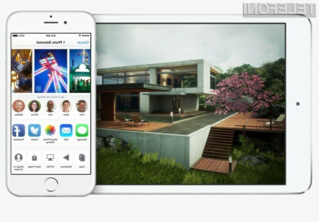 Mobilni operacijski sistem iOS 8 bo pomladil Applovo mobilno napravo!