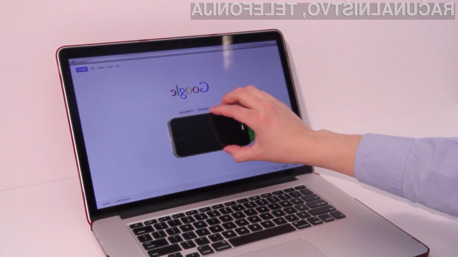 Pametni mobilnik kot dodaten interaktivni zaslon za prenosnik