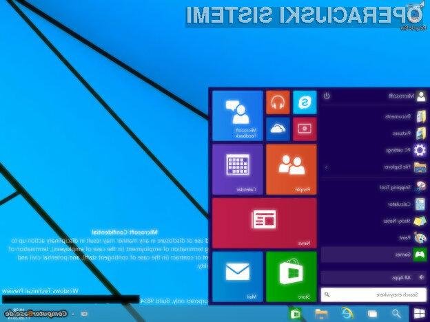 Operacijski sistem Windows 9 vsaj za enkrat obeta veliko!