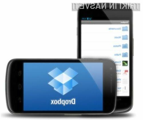 Odslej lahko datoteke iz Dropboxa shranjujemo kar na pomnilniško kartico mobilne naprave Android.