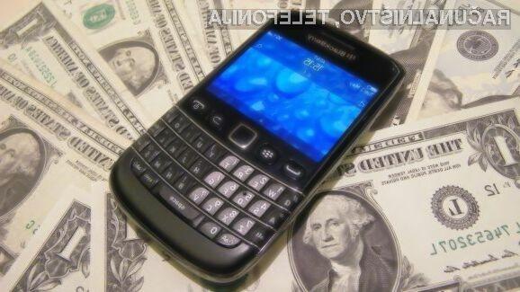 Lenovo računa na to, da je podjetje BlackBerry zrelo za prevzem.