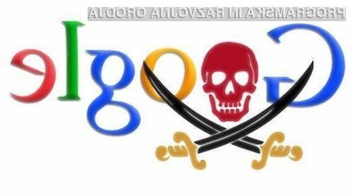 Spletni iskalnik Google bo namerno prekrival piratske vsebine.